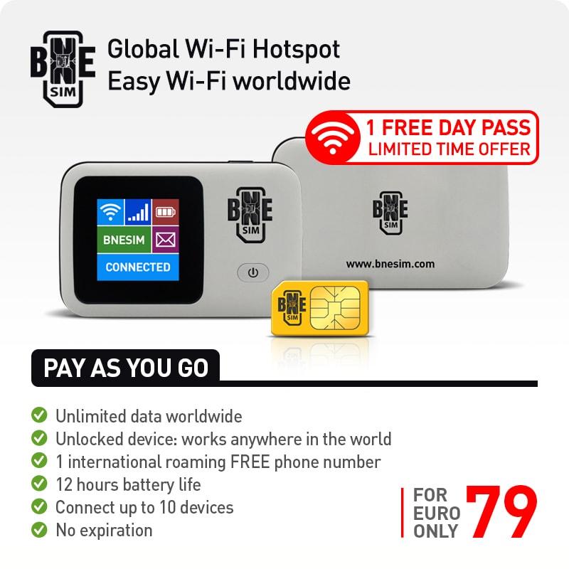BNESIM Ultra-Fast 4G/LTE Portable Mobile Wi-Fi Hotspot