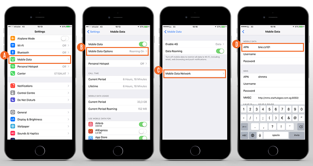 how to change the apn on iphone 5