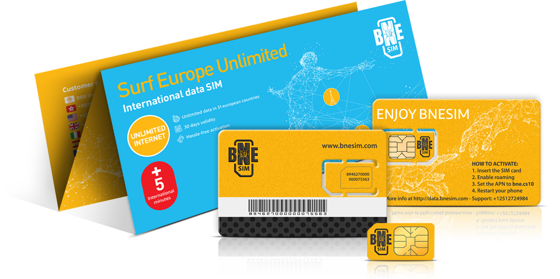 data - Prepaid Sim Card Europe Data