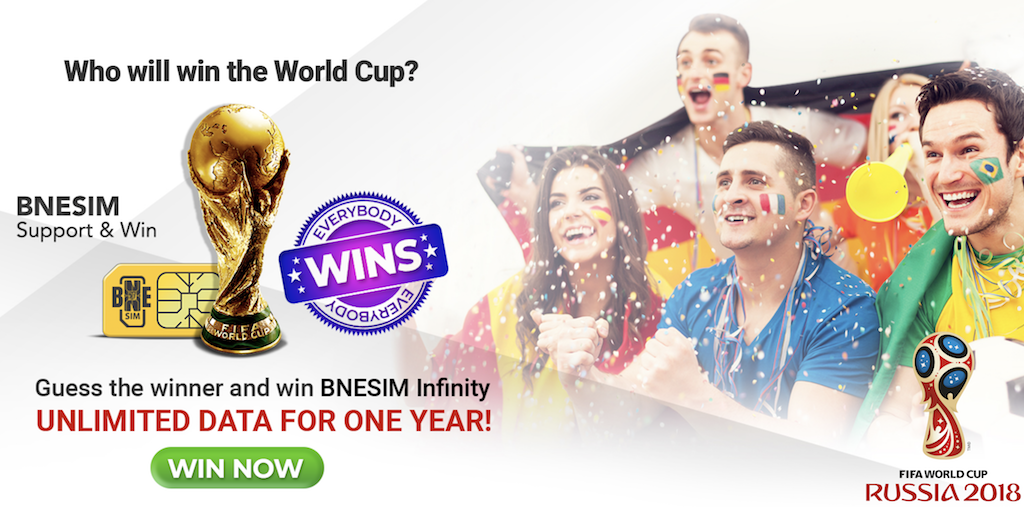 Who will win the 2018 FIFA World Cup? Support and win
