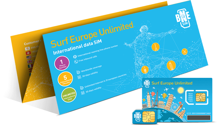 Surf Europe Unlimited SIM card