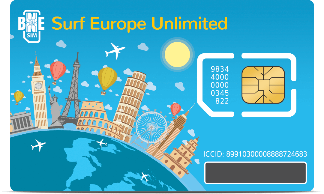 Surf Europe Unlimited - SIM card