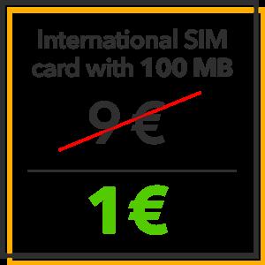 Black Friday - International SIM card with 100MB