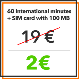 Black Friday - 60 International minutes and 100MB